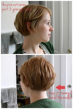 growing out the pixie. Avoid the mullet. I've done this enough times already I know but I'll take any new suggestions.