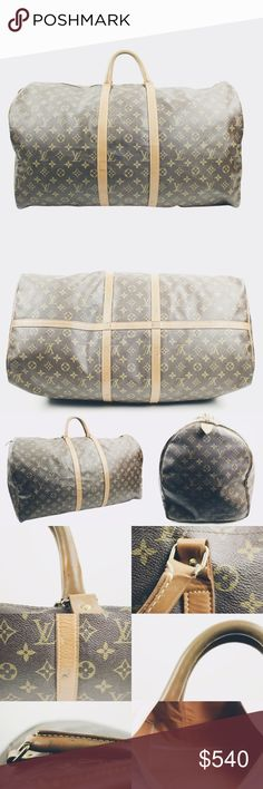 Louis Vuitton Keepall 60 Monogram Canvas This is an AUTHENTIC Louis Vuitton Monogram Keepall 60 ✨  Minor exterior scuffs and marks. Hardware is tarnishing. 🎀  This is a true vintage style with LV Tyvek  zipper pull and rare hardware. 💕  Reasonable offers will be considered 😘    🎀 http://ohmbb.com/bbminisale  💳 Price negotiable via @bonboneries on Instagram Louis Vuitton Bags