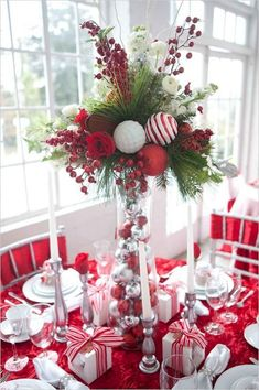 Below are the Christmas Table Centerpieces Decoration Ideas. This post about Christmas Table Centerpieces Decoration Ideas was posted under the Furniture category by our team at July 2019 at pm. Hope you enjoy it and don't forget to . Elegant Christmas Decor, Beautiful Christmas, Simple Christmas, Christmas Home, Christmas Lights, Holiday Decor, White Christmas, Outdoor Christmas, Christmas Balls