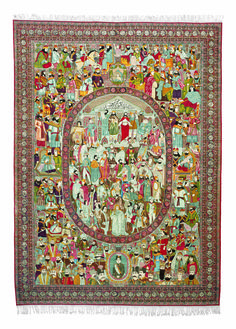 PERSIAN ANTIQUE LAVAR KIRMAN RUG