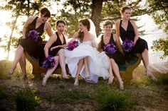 Pin for Later: 40+ Adorable Photos You Need to Take With Your Bridesmaids Sitting Pretty See the full wedding here. Photo by Glen Durrell Photography