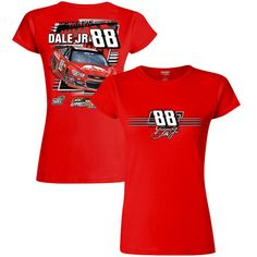 Dale Earnhardt Jr. Hendrick Motorsports Team Collection Women's JR Nation Appreci88ion Tour 2017 Homestead Car T-Shirt - Red