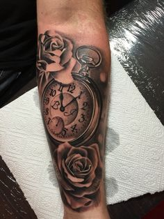 Rose tattoo pocket watch