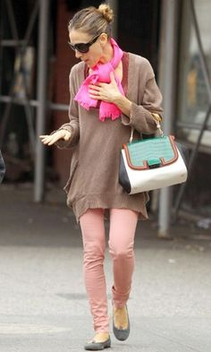 Sarah Jessica Parker Wearing #Pastel Jeans