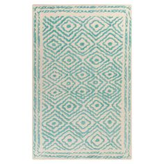 Wool rug with a traditional diamond motif. Hand-woven in India.   Product: RugConstruction Material: Wool