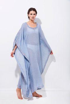 Καφτάνι μακρύ τετράγωνο με διακοσμητική τρέσα Ss16, Cover Up, Dresses, Fashion, Vestidos, Moda, Fashion Styles, Dress, Fashion Illustrations