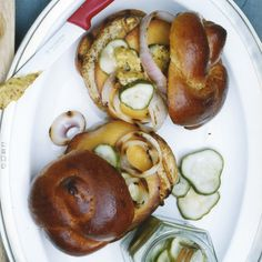 Turkey Burgers with Smoked Gouda // More Bobby Flay Recipes: http://www.foodandwine.com/slideshows/bobby-flay #foodandwine