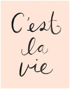 C'est La Vie Art Print 11X14 by KelliMurrayArt on Etsy