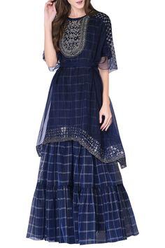 Buy Kurta Sharara Set by Neha & Tarun at Aza Fashions Designer Anarkali Dresses, Designer Party Wear Dresses, Kurti Designs Party Wear, Indian Designer Outfits, Lehenga Designs, Stylish Gown, Stylish Dresses For Girls, Stylish Dress Designs, Pakistani Formal Dresses