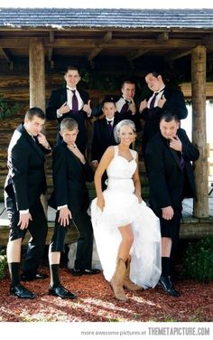 Leg Shot With The Groomsmen…