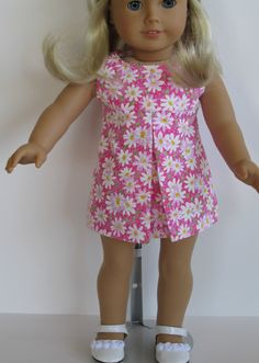 American Girl Doll Clothes- Pleated Sundress. $20.00, via Etsy.