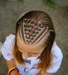 Trendy braids hairstyles cornrows little girls 60 ideas Easy Toddler Hairstyles, Childrens Hairstyles, Cute Hairstyles For Kids, Baby Girl Hairstyles, Kids Braided Hairstyles, Cornrows, Girl Hair Dos, Natural Hair Styles, Long Hair Styles