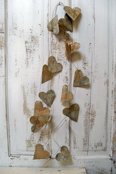 Large heart garland rusty metal French chic by AnitaSperoDesign, $110.00
