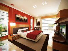 Quem disse que não pode usar vermelho no quarto?
