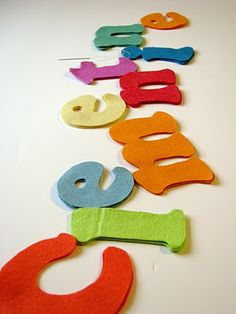 Felt Letters for Clementine's Room