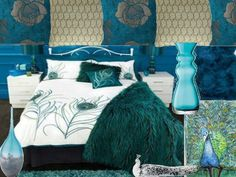 peacock bedroom on pinterest peacock bedding peacocks and peacock