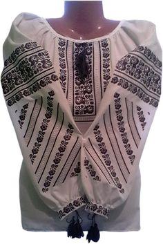 "#вишиванка ""Борщівська"" (Арт. 01050) Folk Art, Cross Stitch, Costumes, Sweaters, Style, Fashion, Dots, Swag, Moda"
