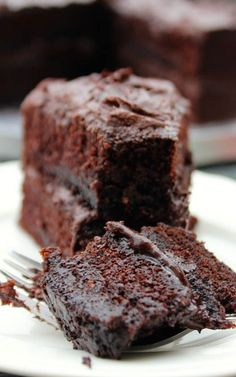 THE BEST CHOCOLATE CAKE (buttermilk, butter, milk, powdered sugar)