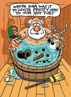 Frosty in the hot tub funny funny quotes humor christmas santa christmas quotes elf christmas quote frosty christmas humor Funny Christmas Cartoons, Funny Christmas Pictures, Christmas Jokes, Funny Cartoons, Funny Comics, Christmas Fun, Holiday Fun, Funny Pictures, Father Christmas
