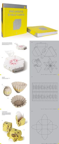 Packaging Structures Packaging Dielines, Kids Packaging, Cardboard Packaging, Tea Packaging, Paper Packaging, Diy Paper, Paper Crafts, Origami, How To Make Box