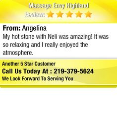 My hot stone with Neli was amazing! It was so relaxing and I really enjoyed the...