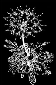 Black and White Zentangle - By Alycia Rowe