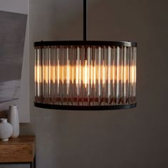 """Acrylic Rod Chandelier 