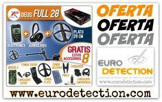 ¡¡OFERTA especial en www.eurodetection.com!! Detector de metales XP Metal Detectors DEUS FULL 28, con electrónica + auriculares WS4 + Plato de 28 cm y además GRATIS 8 accesorios (mochila, cargador coche, funda cuero, funda plato, funda silicona, pinza, cargador y cargador de emergencia) ¡¡Una locura!! #Eurodetection