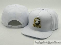 Cheap Wholesale Aape Adjustable Snapback Hats All White Flat Bill Caps 40 for slae at US$8.90 #snapbackhats #snapbacks #hiphop #popular #hiphocap #sportscaps #fashioncaps #baseballcap
