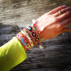 This is our Taj bracelet by #hipanemabracelet perfect for any boho babe - get yours at Ses + Jen - the store #linkinprofile