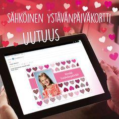Yllätä ystäväsi ja rakkaimpasi ihanalla uutuudellamme, sähköisellä ystävänpäivätervehdyksellä. Tilaa yksilölliset kortit kätevästi osoitteesta www.kuvaverkko.fi  <3<3<3 #ekortti #sähköinenkortti #kortti #ystävänpäiväkortti #ystävänpäivä #bff #bestis #rakas #darling #puspus #valokuva #kuvatuote #uutuus #clickandmix #kuvaverkko