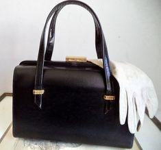 c595443519 Mastercraft 60s Black Doctor Bag Kelly Purse Retro 60s Frame Bag