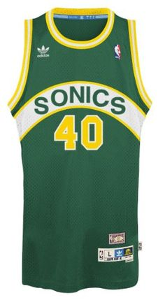 1891d6bb1 Shawn Kemp Seattle Supersonics Adidas NBA Throwback Swingman Jersey -  Green  This retro throwback swingman