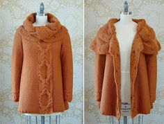 Rust Jacket free knitting graph pattern