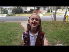 "Girl Scout Samantha has her own take on a 'Frozen' song -- ""Do You Want To Buy Some Cookies? Girl Scout Cookie Sales, Girl Scout Cookies, Daisy Girl Scouts, Girl Scout Troop, Girl Scout Songs, Frozen Songs, Gs Cookies, Girl Scout Juniors, Make Me Smile"