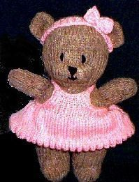 Knitting Pattern Central - Free Pattern - Bitsy Bear. I saw this blog that used this pattern, and what the blogger did turned out so cute! http://jaimelouise.blogspot.com/2011/06/its-busiest-time-of-year.html