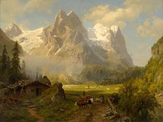 August Wilhelm Leu The Massif of the Wetterhorn - The Largest Art reproductions Center In Our website. Low Wholesale Prices Great Pricing Quality Hand paintings for saleAugust Wilhelm Leu Great Paintings, Old Paintings, Landscape Artwork, Fantasy Landscape, Fantasy Concept Art, Fantasy Art, Puzzle Art, Mountain Paintings, Traditional Paintings