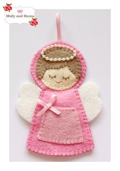 Christmas Angel Ornament Tutorial from Molly and Mama