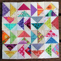 Scrapbeelicious block 1 by Wombat Quilts