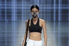 Qiadan Yin Peng's Runway Collection Showcases Face Mask Designs #survivalist trendhunter.com