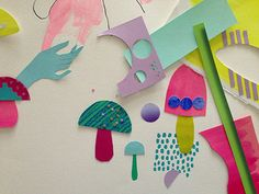 Hidden place - from a collaborative exhibition Beci Orpin with fellow illustrator Kat MacLeod