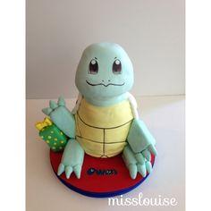 Squirtle Birthday Cake Pokemon Boy Party Ideas