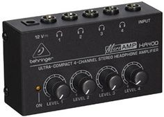 Amazon #deal: Behringer Microamp Ha400 Ultra-Compact 4-Chan... by Behringer