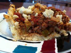 Paleo Cauliflower Taco Pie from Lemons 'N Lyme http://lemonsnlyme.wordpress.com/ paleo cauliflow, tacos, taco pie, food, healthi, pies, eat, cook recip, cauliflow taco