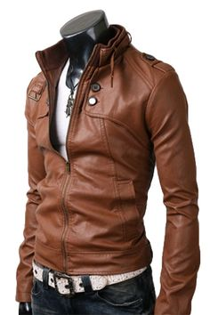 $179.00 - Astonish the people around with the magnificence and panache of your personality when you sport this tasteful button pocket jacket. This brown button pocket leather jacket is extremely elegant and fashionable and is up to the mark with the latest fashion trends. This jacket is engineered of the world's highest grade Cowhide / Lambskin leather adding kudos and reputation to it.