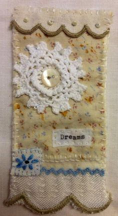 Textile Jewelry, Fabric Jewelry, Textile Art, Sewing Crafts, Sewing Projects, Fabric Brooch, Creative Textiles, Stitch Book, Prayer Flags