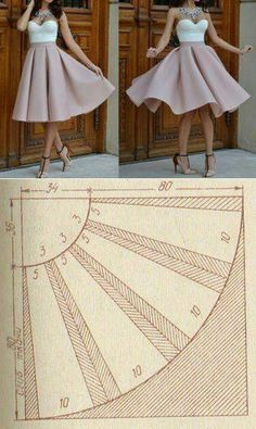 instructions variations instrall patterns outhere andall areare circle check instr skirt basic here link morethe basic circle skirt patterns. Check out the link for more instructions and variations. -Here are all the basic circle skirt patter Dress Sewing Patterns, Clothing Patterns, Pattern Sewing, Skirt Sewing, Sewing Clothes, Diy Clothes, Costura Fashion, Diy Couture, Dressmaking
