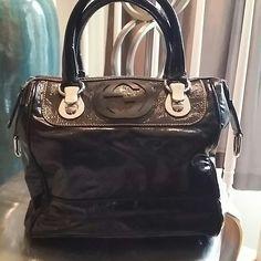 Gucci Snow Glam Boston Bag Black patent.  Excellent condition! Gucci Bags