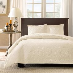 Madison Park Corrine 3 Piece Coverlet Set & Reviews | Wayfair