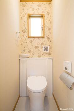 建築家:(株)共創 一級建築士事務所「Ys-House」 Toilet Room, Natural Interior, Bathroom, Wall, House, Furniture, Home Decor, Sweet, Washroom
